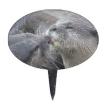 otter cake topper cake toppers zazzle