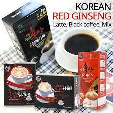Daftar Ginseng Korea korea ginseng black coffe 10 sachet daftar harga terbaru