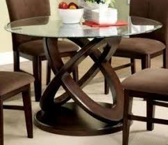 glass top dining tables with wood base foter