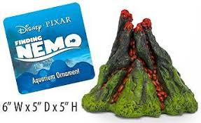 nemo 5 inch aerating volcano resin aquarium ornament decorations