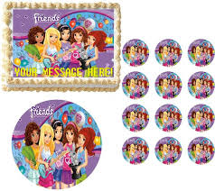 edible cake topper lego friends party edible cake topper image frosting sheet