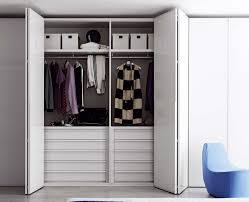White Bedroom Wardrobes Uk Novamobili Crystal Wardrobe With Folding Doors Fitted Wardrobes