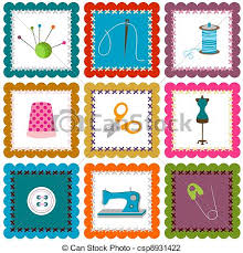 vector illustration of sewing elements background csp8931422