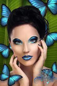 morpho erfly colorful eye makeupexotic makeupfantasy