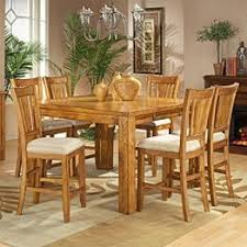 Light Oak Dining Table And Chairs Mission Oak Pub Table Foter