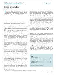 update in nephrology annals of internal medicine american