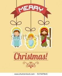 christmas card santa reindeer snow man stock vector 62223433