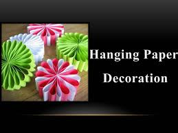 diy how to make a hanging paper decoration