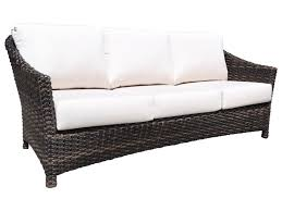 All Weather Wicker Loveseat Cabana Coast Severn Outdoor Wicker Sofa Hudson U0027s Furniture