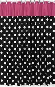 Black Polka Dot Curtains Black White Polka Dot Fabric Shower Curtain With Pink