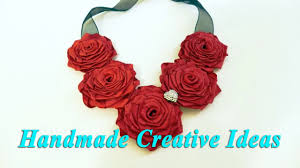 necklace flower handmade images Handmade creative idea 39 s rose necklace tutorial 2017 jpg