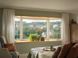 Curtains On Bay Window Bay Window Traditional Bedroom Raleigh By Ply Gem