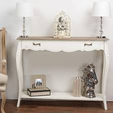 light brown 2 tiered wooden half moon console table 70982 the