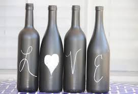 recycled wine bottles how to label or paint a bottle with
