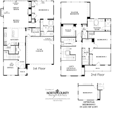 Family Floor Plans Elms Floor Plan 2 New Homes In Carmel Valley North County New