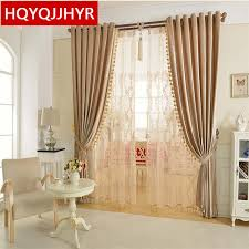 Kitchen Curtain Material by Aliexpress Com Buy 2017 New European Style Luxury Solid Color