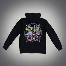 skull and guns hoodie guns n roses official store