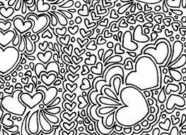 abstract hearts printable coloring marblesandjam