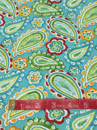 Paisley Home Decor Fabric by Aqua Yellow Red Green U0026 Turquoise Paisley Fabric By The Yard Quilt