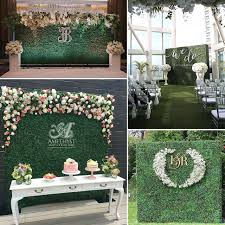 wedding backdrop grass 40cm x 60cm simulation of plastic green artificial grass lawn for