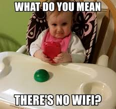 Baby On The Phone Meme - what do you mean there s no wifi disappointed baby phone meme