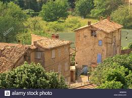 farmhouses at rebouillon var near draguignan france stock photo