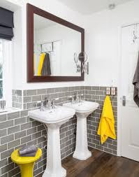 Yellow Bathroom Ideas Gray And Yellow Bathroom Free Yellow And Grey Printables More