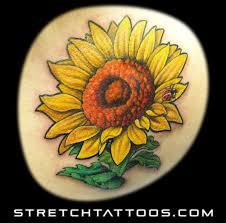 Ladybug And Flower Tattoos - sunflower and ladybug tattoos