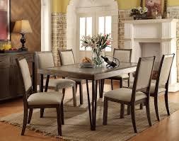 rustic oak finish 7 pc dining set caravana furniture