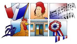 Symboles, valeurs de la République Française, Déclarationdes droits de l'Homme et du citoyen...