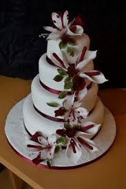 red white winter wedding cake casa costello