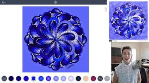 how to color a monochromatic mandala with color therapy app youtube
