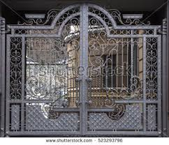 wrought iron gate stock images royalty free images vectors