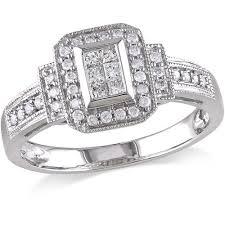princess cut 3 engagement rings 1 3 carat t w princess and cut engagement ring in