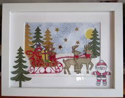 tinyrose u0027s craft room christmas frame santa and his sleigh