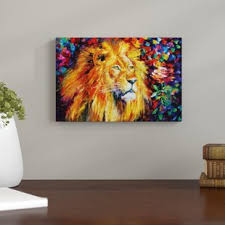 eclectic lion ring holder images Lion painting wayfair jpg