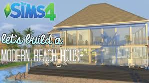Modern Beach House by The Sims 4 Lets Build A Modern Beach House Part 1 Youtube