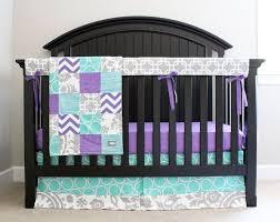Purple And Aqua Crib Bedding Teal And Purple Baby Bedding Home Design Ideas