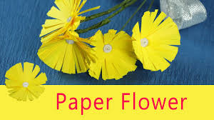 paper flower craft for kids very easy diy paper flowers youtube