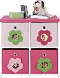 4 Tier Toy Organizer With Bins Amazon Com Cosco Blossom 4 Bin Storage Unit Pink White Kitchen