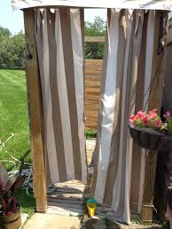 Outdoor Shower Curtains Outdoor Shower Curtain Ideas Utrails Home Design Outdoor