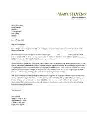 hiring manager cover letter best human resources manager cover