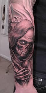 full sleeve grim reaper tattoo design grim reaper tattoo ideas