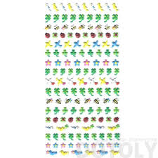 birds doves bees ladybugs and four leaf clover puffy stickers for