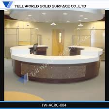 Hotel Lobby Reception Desk by Tell World High End Acrylic Solid Surface Hotel Reception Counter