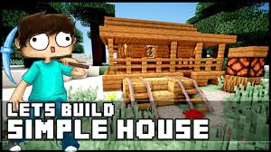 Cost To Build A Modern Home Minecraft How To Build A Simple Starter House Youtube