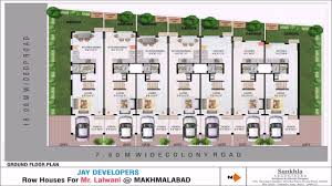 narrow townhouse floor plans row house floor plans in india