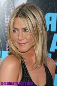 aniston medium length layered hairstyles