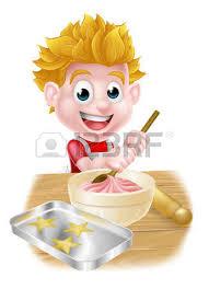 cuisine comme un chef caucasian boy in chef hat the dough in a bowl boy