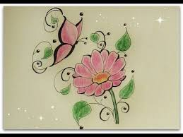 tattoo flower drawings how to draw flower with butterfly daisy flower for beginners
